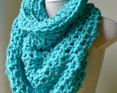 RESERVED Baby Alpaca Cowl Turquoise