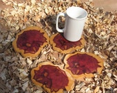 The Cabin Collection Eastern Red Cedar Coasters Set of Four