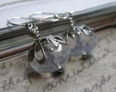 Delight in White Whimsical Rondelle Earrings