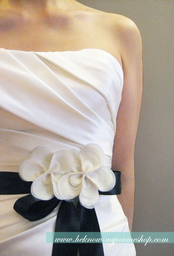 Items similar to wedding accessories organza flower for Wedding dress accessories belt