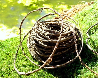 Bark Wire Garland-Real Bark Covered Wire Vine for Wedding Baskets-Vivariums-Wreaths-Terrariums and more-70 foot roll