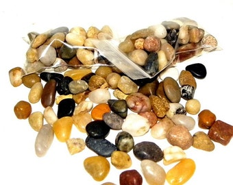 Stones-Tiny Polished Pebbles 1/3 cup for terrariums-Vivariums-Weddings-Craft Projects and More