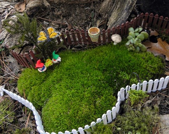 "Miniature fence-Fairy Garden Fence-Choose 1"" or 2"" same priceMiniature White Picket wooden fence-wedding cake decor"