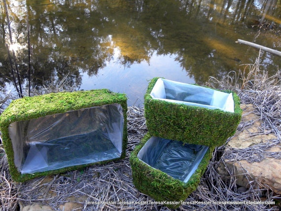 Rectangular Moss Flower Baskets Set Of 3 With By Teresab123