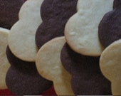 Assortment of Organic Chocolate and Vanilla Shortbread Heart Cookies