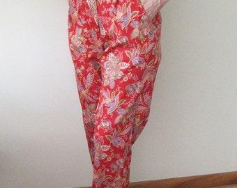 Vintage 80s Hawaiian Pants Slacks Aloha Wear