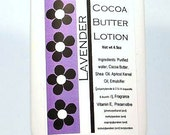 SALE Lavender Handmade Lotion, Shea N Cocoa Butter, moisturizing from scratch recipe