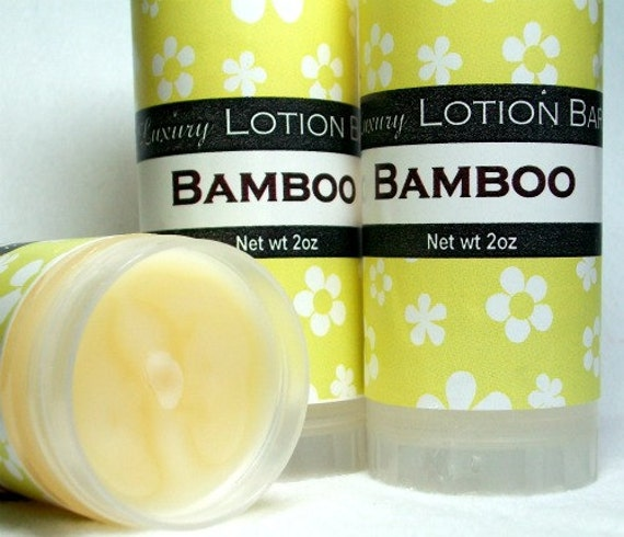 SALE Lotion Bar Herbal Bamboo scent, fresh fragrance, solid moisturizing formula, concentrated, spa fragrance