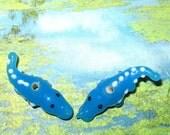 Lampwork Alligator Beads (2)