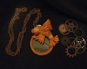 Steampunk Koi Fish Monocle Necklace