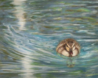 Paddling as Fast as I Can - Duck Giclee Print