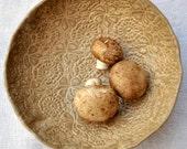 modern Ceramic Bowl - textured lace  bowl minimalist ceramics Chocolate Sorbet glaze Urban Rustic series 12 oz