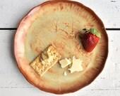 "ceramic plate minimalist handmade dinnerware Rust Gold glaze Urban Rustic series 7 1/2"""