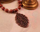 Copper Pendant and Beads...