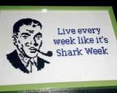 Shark Week Cross Stitch