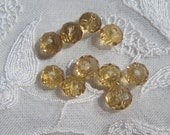 4mm Honey Champagne Rondells, Round Crystals, 10 Pieces, Czech Faceted Crystals, Jewelry Supplies