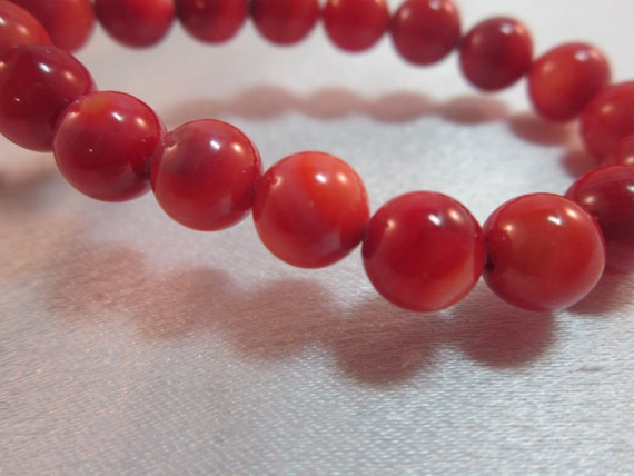 Salmon Jade Round Beads, 8 mm, 24 Beads, Jewelry Supplies, Craft Supplies