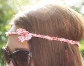 braided floral hippie headband / wrap bracelet. sustainable eco friendly fashion.