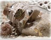 Little Beach in a Bottle - Magnet and Ornament - Souvenir or Wedding Favor