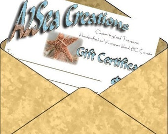 Gift Certificate - By Email or Snail-Mail