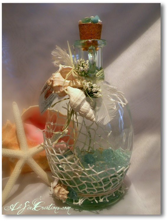 Fabulous Funky Flat-Sided Bottle - Can Be Turned Into a 'Message In A Bottle' - See Details Below