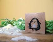 The Momo Penguin - Unique Wooden Magnet
