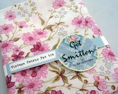 Pink Floral Vintage Fabric Fat Quarter