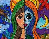 Calavera of Guadalupe- 8 x 10 Print