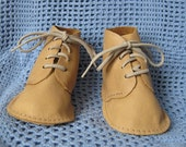 Beige Leather Baby Shoes
