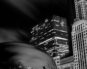 Chicago's Cloud Gate - 4x6 Black and White LIMITED EDITION Photo Print