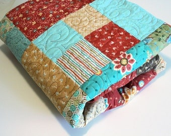 Sale Queen Size Quilt And Pillowcases Turquoise Blue