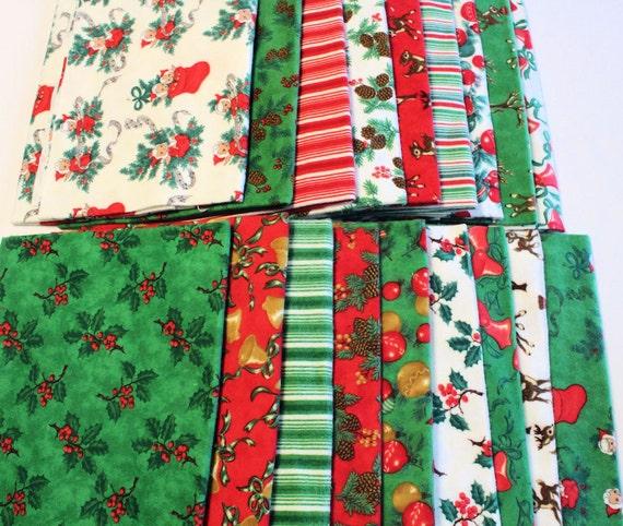 Moda Flannel Christmas Fabric Bundle - 9 yards total
