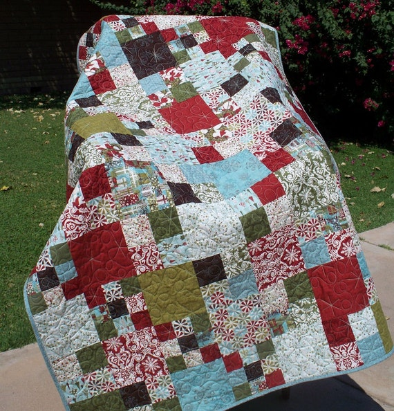 Lap Quilt Christmas Pudding With Moda Figgy By