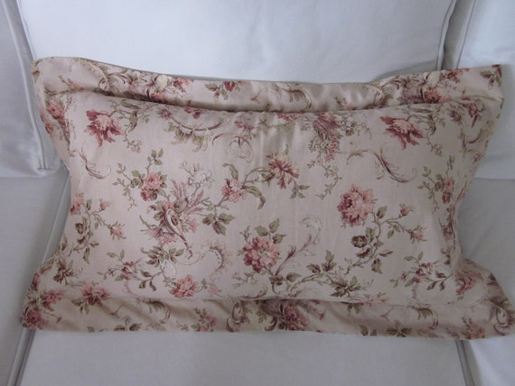 Antique French fabric pillow cover case