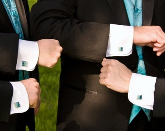 Custom  Cuff Links -  Wedding Groomsmen Gift