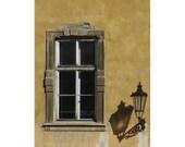 Window and Lamp - Prague, Czech Republic - 8 x 12 fine art photograph