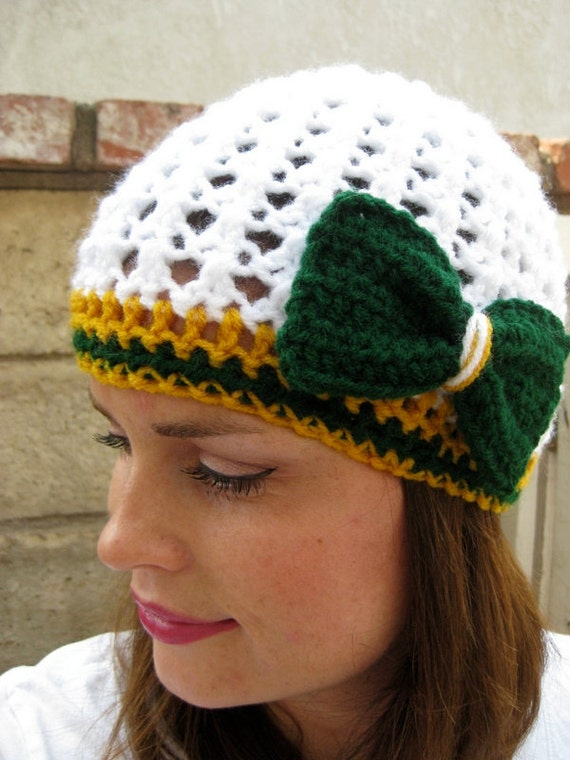 Green Bay Packers Football Beanie Crochet football by ...
