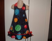 Colourful Planets Halter Dress