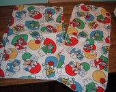 Sports Bears Flannel Blanket and Burp Cloth