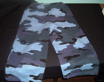 Flannel Lounge Pants Size 12 -18 months Blue Camo