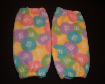 Girls Leg Warmers  M and M's Fleece
