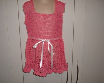 Crochet Toddler Dress in Pink