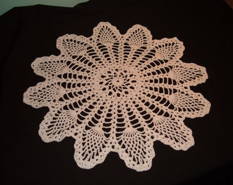 Crochet Doily White Pineapple