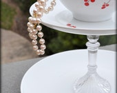 One of a Kind Two Tiered Red Cherry Berry Cake Stand Plate Dessert Plate Jewelry Holder