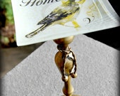 One of a Kind Bless Our Home Bird Dessert Pedestal Cupcake Tier Jewelry Stand Cake Plate Wedding Picnic