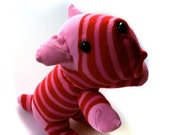 Refined red and pink stripey sockdog
