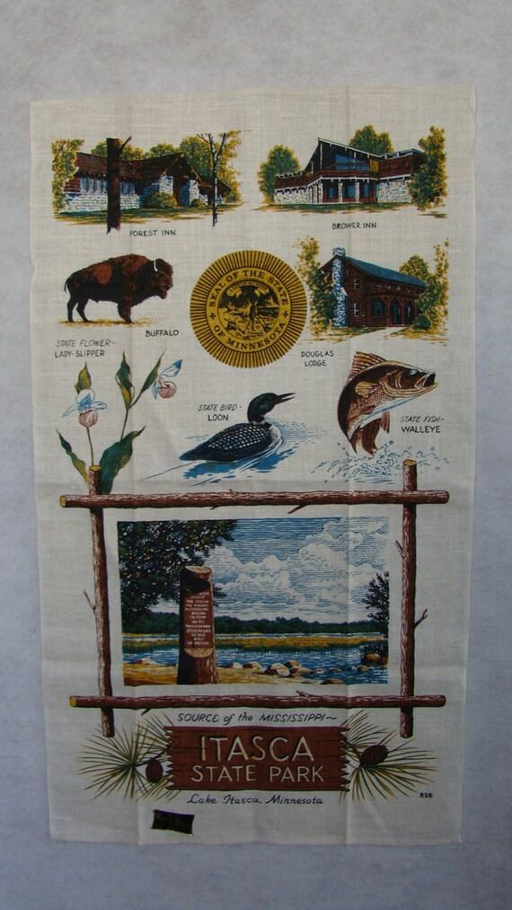 Linen Lake Itasca Towel