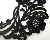 Gloss Black Statement Necklace  .Althea.