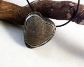 Heart Rock Necklace