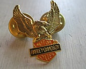 Gold Harley Davidson Eagle Pin